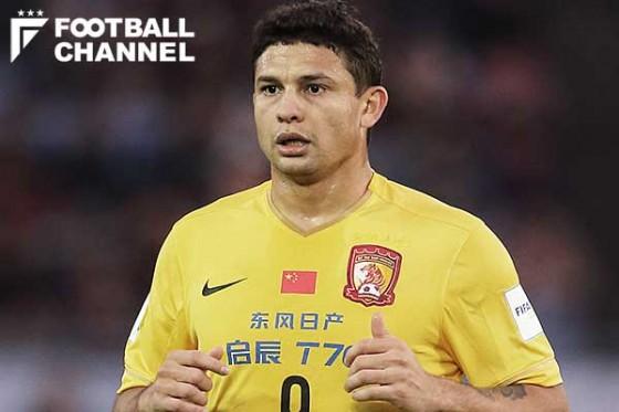 広州恒大FWエウケソン、上海上港への移籍が決定。昨季はACL優勝に貢献