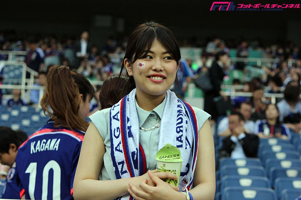 親善試合 日本代表vsキプロス代表戦の美女サポーターたち