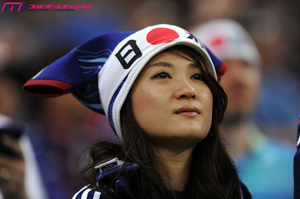 グループC 日本代表vsコートジボワール代表戦の美女サポーターたち