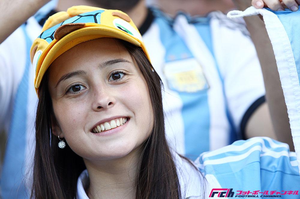 グループF アルゼンチン代表vsイラン代表戦の美女サポーターたち