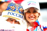 グループH アルジェリア代表vsロシア代表戦の美女サポーターたち