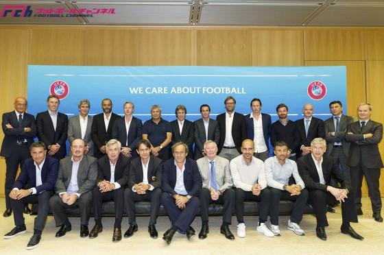UEFAエリートクラブ監督フォーラムで一緒に学ぶグアルディオラとクロップ
