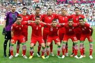 イラクと対戦するイラン。準決勝進出を懸け、ピッチで戦う。