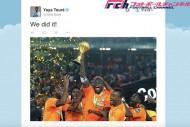 アフリカ杯優勝のY・トゥーレ「アンビリーバブルだ」 監督は史上初の快挙