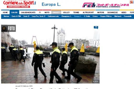 ローマサポーターがオランダで不当扱い!? 「まるで家畜だ」