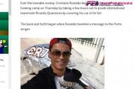 クアレスマ、ポルトガル代表の同僚のイタズラに「クリスティアーノ、マジ!?」。犯人はあのスター