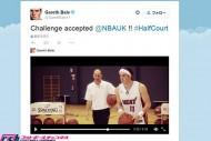 NBAからの挑戦状を受けたベイル、バスケットのロングシュートを披露! 結果は…