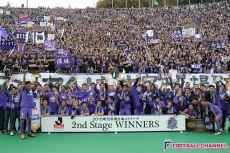 サンフレッチェが遂げたCS優勝。21年の時を超えて乗り越えた重圧、広島の夜空に沸いた紫の歓喜