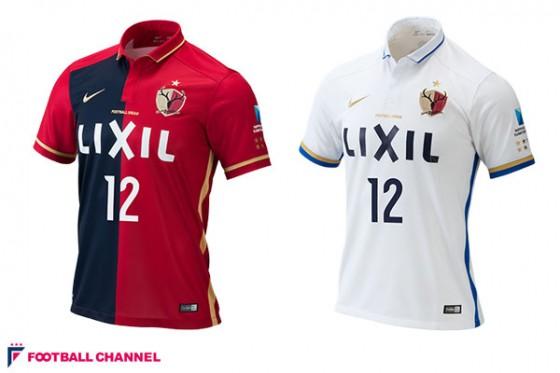 鹿島、2016年の新ユニフォームを発表。創立25周年を記念した伝統の配色を採用