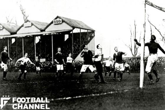 1905年のFAカップの様子。ゲランらがFIFAを発足させた当初、イングランドはFIFAに加盟していなかった