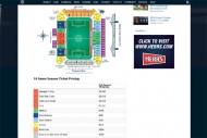 フィラデルフィア・ユニオンのシーズンチケット購入画面。最も高い座席は年間で4590ドル(約52万円)となっている
