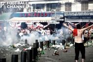 マルセイユではサポーター間の衝突が起きた