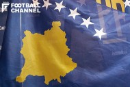 コソボ代表の国旗
