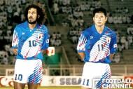 横山監督時代から日本代表に加わったラモス瑠偉(左)と三浦知良(右)