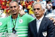 ヴァイッド・ハリルホジッチ監督(右)のもとでアシスタントコーチを務めたノルディン・クリシ氏(左)