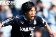 ジュビロ磐田のMF中村俊輔。同点ゴールを演出した