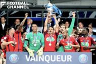 フランス杯で優勝したパリ・サンジェルマン【写真:Getty Images】