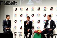 トークセッションに登壇した乾貴士(中央)、原博実Jリーグ副理事長(右)、小澤一郎氏(左)