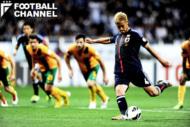 2014年ブラジルワールドカップ予選オーストラリア戦でPKを決めた本田圭佑