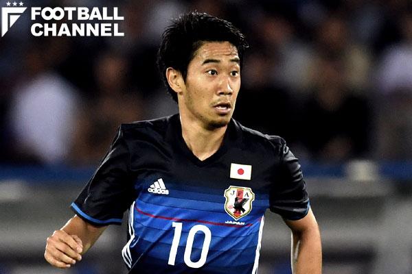 日本代表MF香川真司。ハイチ戦では終了間際に同点ゴールを決めた【写真:Getty Images】