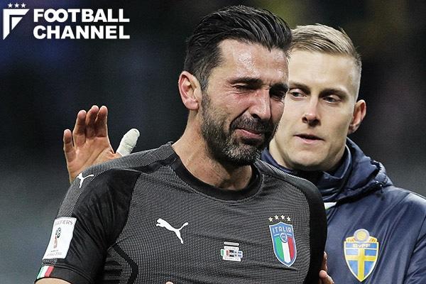 W杯出場を逃して涙を流すイタリア代表GKジャンルイジ・ブッフォン【写真:Getty Images】
