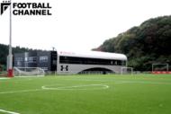 いわきFCの練習場から見えるクラブハウス