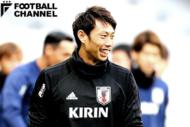 日本代表のGK東口順昭。初招集から約7年となるが、国際Aマッチ出場は3試合にとどまる