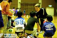 宮城県大崎市でサッカースクールを開催した小林祐希