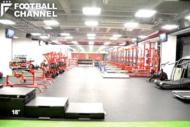 いわきFCのクラブハウス内にあるトレーニングジム「ドームアスリートハウスいわき」