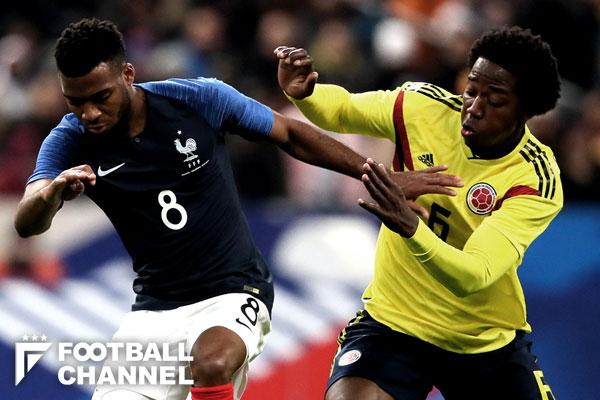 フランス対コロンビア
