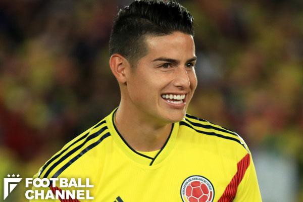 コロンビア代表のハメス・ロドリゲス【写真:Getty Images】