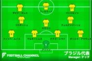 ブラジル代表ボリビア戦スタメン